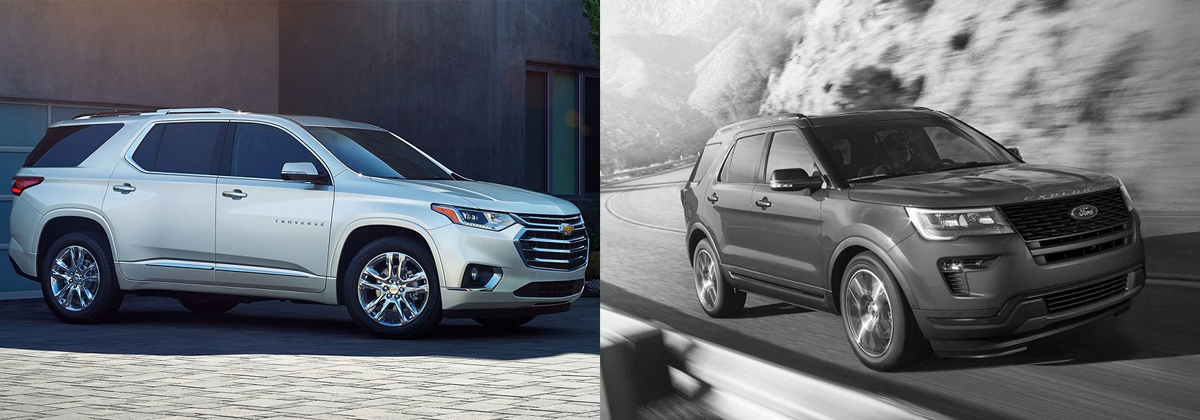 2019 Chevrolet Traverse vs 2020 Ford Explorer - Greensboro NC