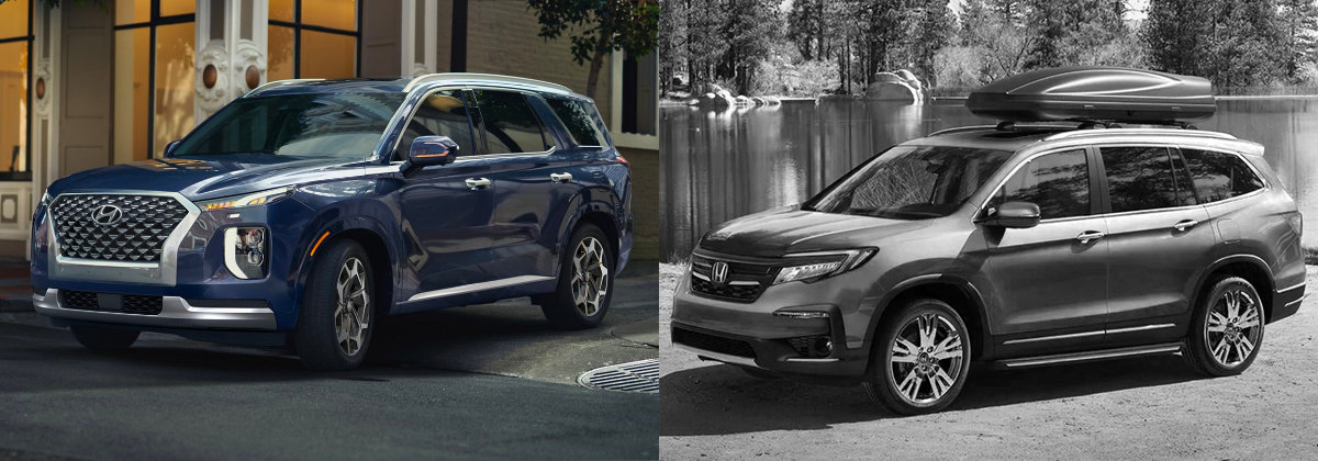 2021 Hyundai Palisade Vs 2021 Honda Pilot near Newark NJ
