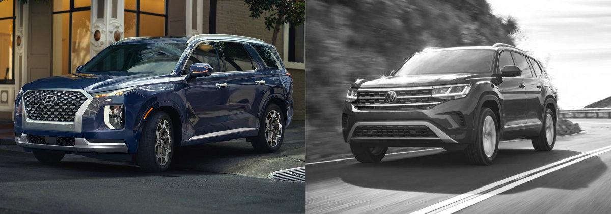 2021 Hyundai Palisade vs 2021 Volkswagen Atlas on Long Island
