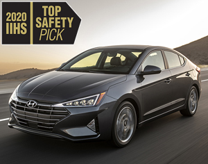 2020 ELANTRA named 2020 IIHS Top Safety Pick