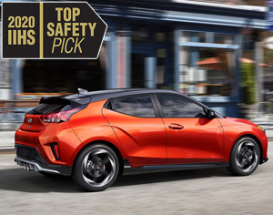 2020 VELOSTER named 2020 IIHS Top Safety Pick