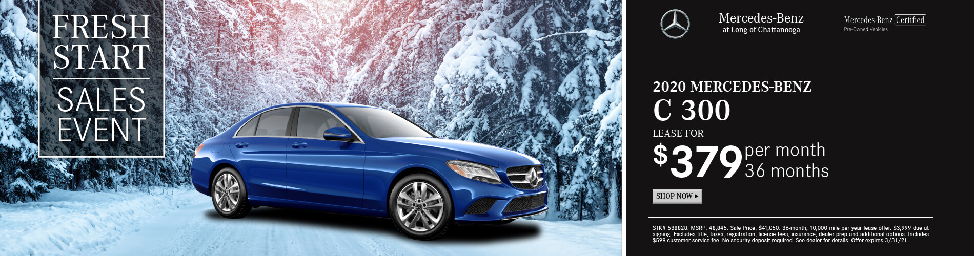 Mercedes-Benz Fresh Start Sales Event in Chattanooga